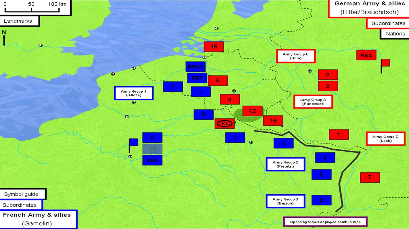 Map Of Germany France.Battle Of France 1940 The Art Of Battle